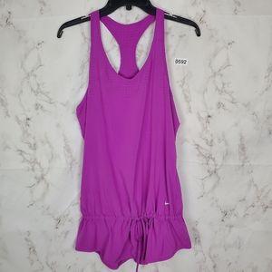 NIKE Running Sleeveless Tunic Racerback Purple Top